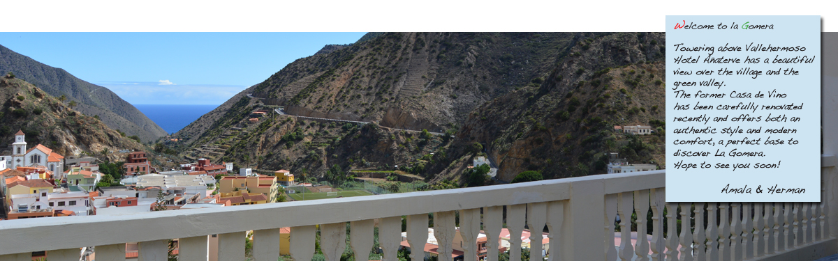 hotelkamer, hotel Añaterve, La Gomera, Vallehermoso