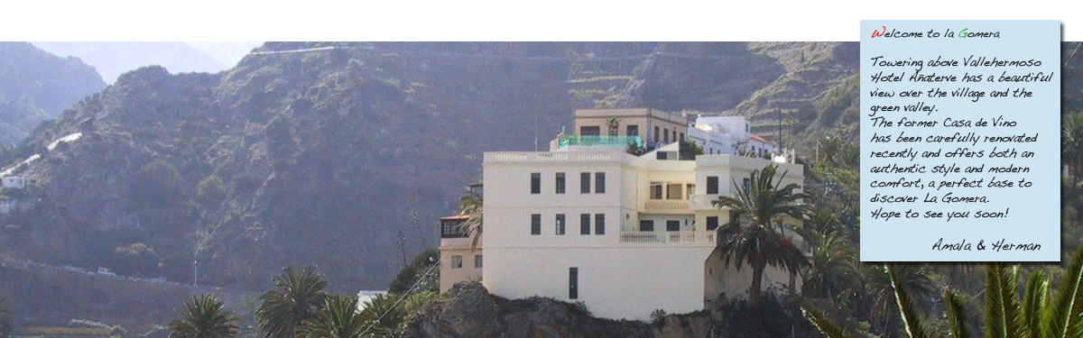 hotel, La Gomera, wandelvakantie, Canarische eilanden, wandelen
