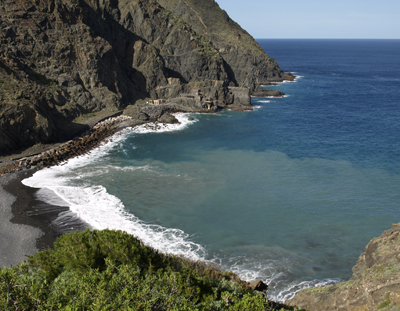 La Gomera, zee, Vallehermoso, oceaan, Castillo del Mar
